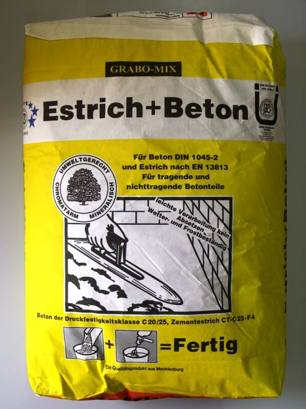 estrichbeton estrich beton betonm rtel 40 kg sack betonestrich ebay. Black Bedroom Furniture Sets. Home Design Ideas